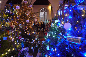 Christmas Tree Festival 2013 Nave side isles