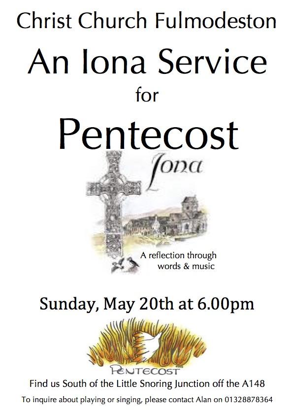 Iona Service for Pentecost at Fulmodeston